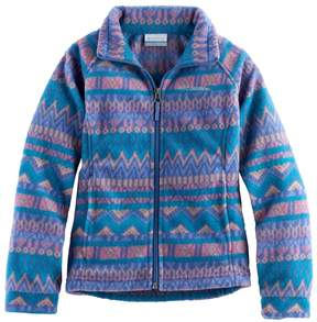 Columbia Girls 4-16 Midweight Printed Fleece Jacket