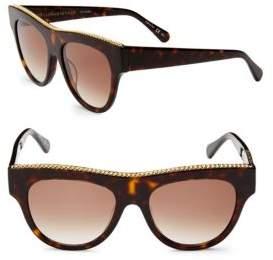 Stella McCartney 51MM Flat Top Round Sunglasses