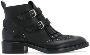 Sartore fringed buckle boots