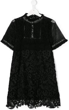 John Richmond Kids TEEN lace detail dress