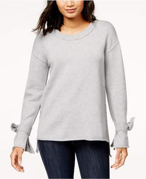 Bar III Tie-Sleeve High-Low Sweater, Created for Macy's