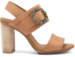 See by Chloe Crystal-embellished Leather Slingback Sandals - Tan
