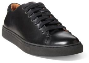 Ralph Lauren Jermain Leather Sneaker Black/Black 10