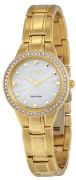 Citizen Silhouette Crystal Champagne Dial Gold Ladies Watch EX1362-54P