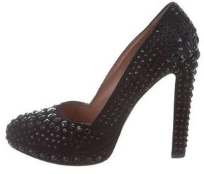 Alaia Suede Studded Pumps
