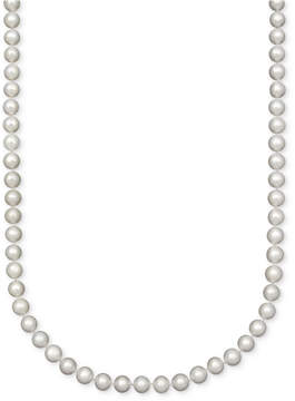 Belle de Mer Pearl Necklace, 18 14k Gold A Cultured Freshwater Pearl Strand (7-1/2-8mm)