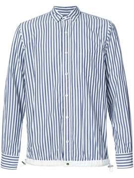 Sacai drawstring hem pinstriped shirt