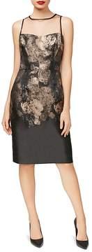 Betsey Johnson Illusion Jacquard Sheath Dress