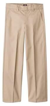 Dickies Boys' Husky Flexwaist Flat Front Pants