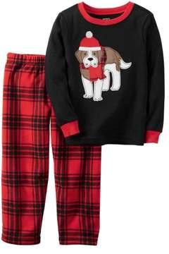 Carter's Toddler & Lil Boys 2 Piece Holiday Dog Sleepwear Pajama Set 3T