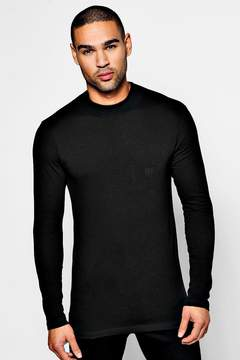 boohoo MAN Muscle Fit Turtle Neck T-Shirt