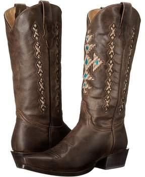 Roper Cross A Grande Snip Toe Cowboy Boots