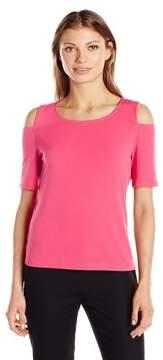 Nine West Cold-Shoulder Top Shirt