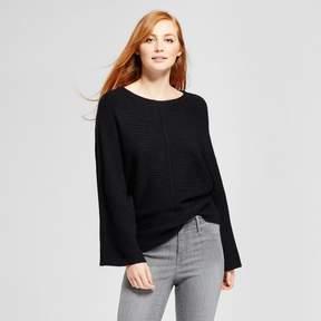 Cliche Women's Front Seam Pullover Sweater Black