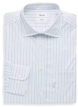 Façonnable Striped Spread-Collar Cotton Dress Shirt