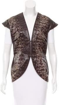 Zero Maria Cornejo Embossed Leather Vest