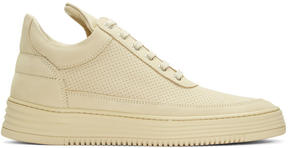 Filling Pieces Beige Perforated Tone Sneakers
