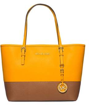 Michael Kors MICHAEL Jet Set Color-Blocked Travel Tote - SUN / LUGGAGE - STYLE