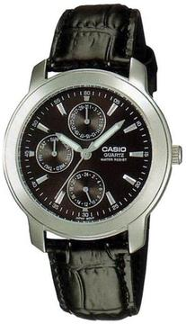 Casio MTP-1192E-1A Men's Classic Black Leather Watch