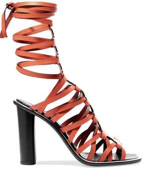 Altuzarra Pont Lace-up Leather Sandals - Tan