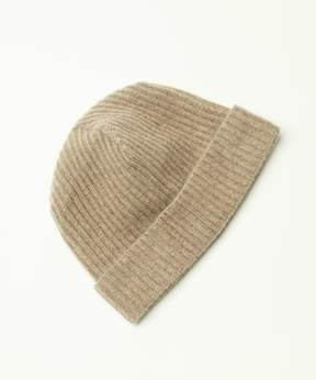 Portolano Cashmere Ribbed Hat With Folded Cuff.
