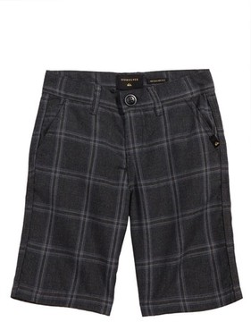 Quiksilver Boy's Regeneration Plaid Shorts