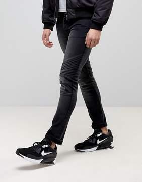 Loyalty And Faith Hayden Skinny Biker Jeans in Black