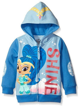 Asstd National Brand Nickelodeon Shine and Shimmer Toddler Girls Shine Costume Hoodie with Pink Glitter