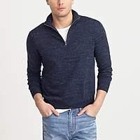 J.Crew Factory Cotton-linen half-zip sweater