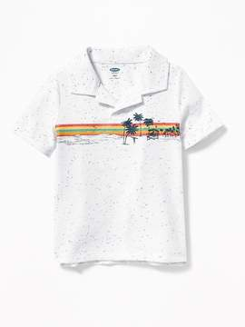 Old Navy Beach-Graphic Polo for Toddler Boys