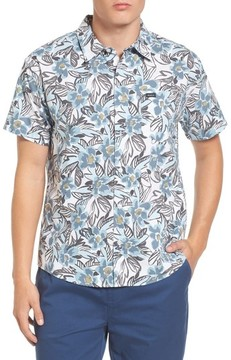 RVCA Men's Paradise Valley Floral Woven Shirt
