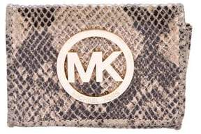 MICHAEL Michael Kors Embossed Flap Card Holder