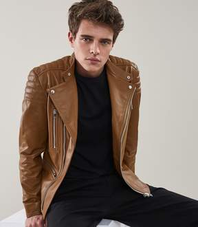 Reiss Sully Leather Biker Jacket
