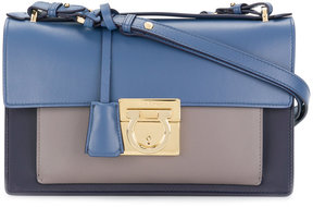 Salvatore Ferragamo colour block Gancio lock shoulder bag