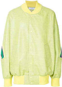 Facetasm buttoned bomber jacket