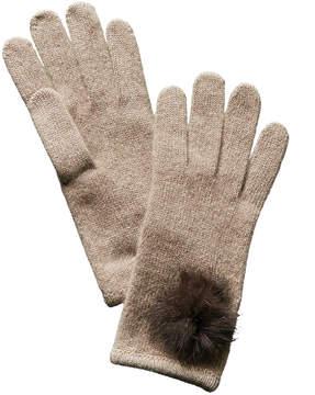 Portolano Nile Brown Cashmere Gloves