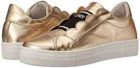 Fendi Metallic Logo Slip-On Sneakers Girl's Shoes