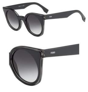 Fendi Sunglasses 196 /S 0L1A Gray Blue / 9O dark gray gradient lens