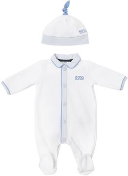 HUGO BOSS Cotton Chenille Romper & Hat