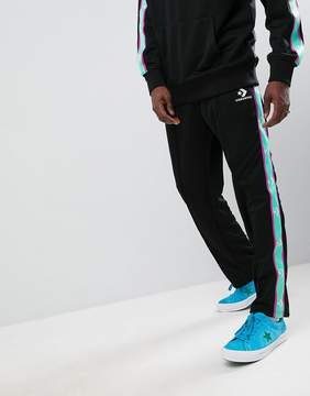 Converse Joggers With Taped Side Stripes In Black 10006733-A09