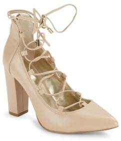 Saks Fifth Avenue Leather Lace-Up Pumps