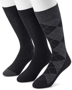 Marc Anthony Men's Argyle Heathered Dress Socks