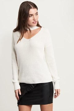 Dynamite Long Sleeve Sweater With Choker