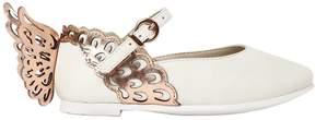 Sophia Webster Evangeline Mini Leather Ballerina Shoes