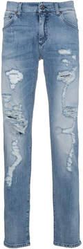 Dolce & Gabbana distressed slim fit jeans