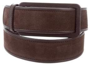 Loro Piana Leather-Trimmed Suede Belt