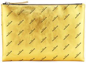 Balenciaga Logo-Print Pouch Bag