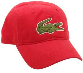 Lacoste Mens Big Croc Hat in Red O/S M US