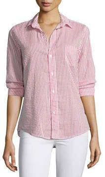 Frank And Eileen Barry Long-Sleeve Voile Shirt, Red Stripe