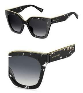 Marc Jacobs Women's Marc162s Square Sunglasses, Havana Black Crystal/Dark Gray Gradient, 52 mm